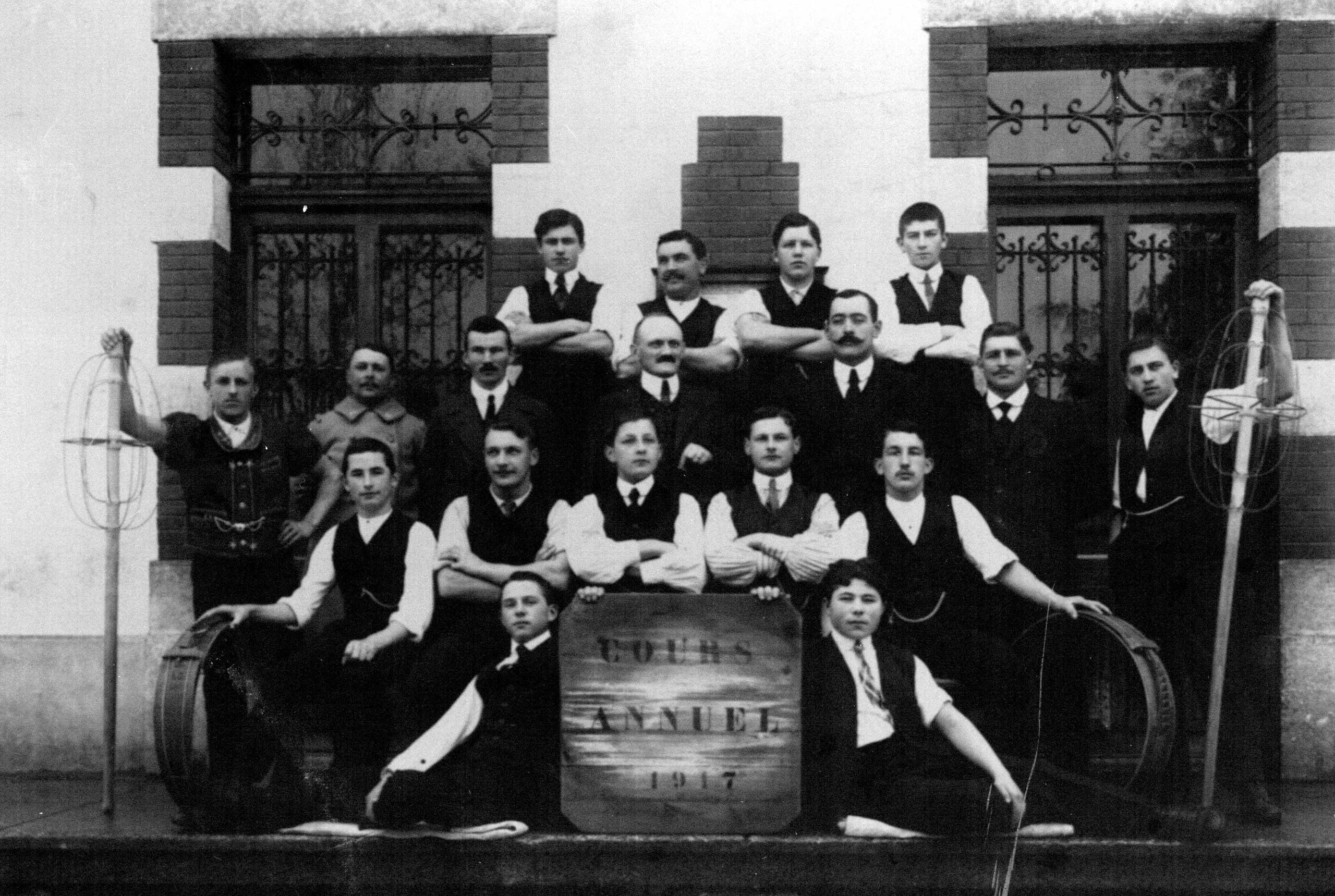 Ecole de Fromagerie Moudon, volée 1917. © source privée